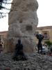 Veduta del monumento ai zolfatari di Cianciana (AG)