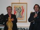 Con Angelo Mistrangelo durante una mostra
